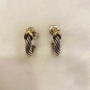 David Yurman Cable Cross Earrings